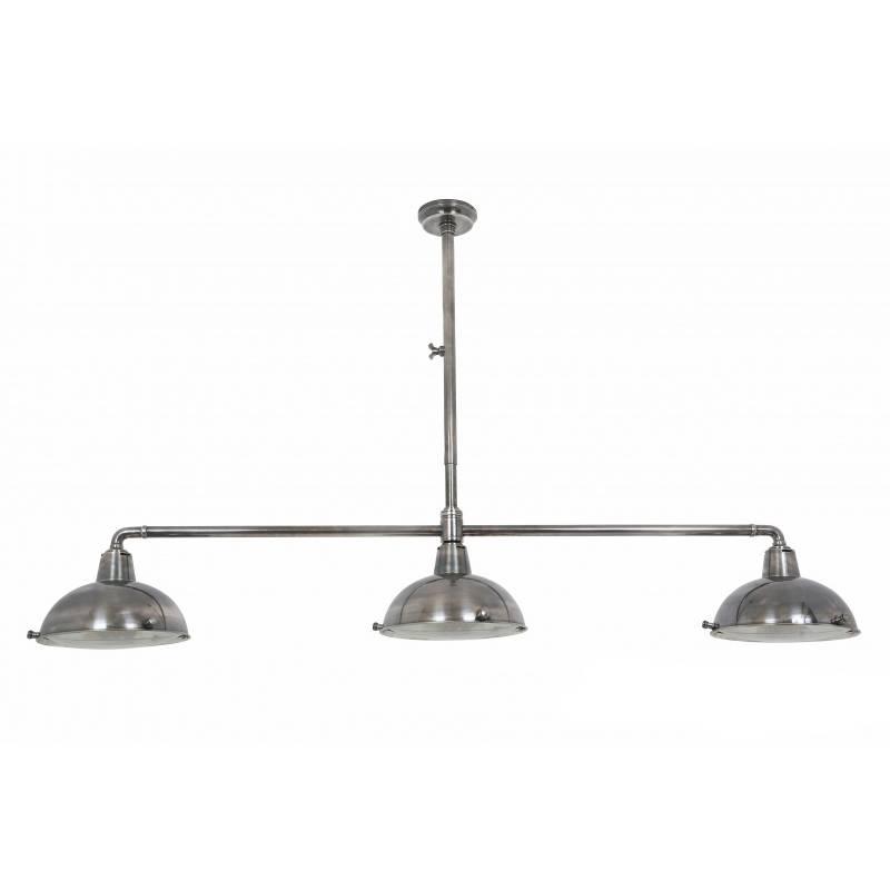 Industriële verlichting IndustriÃ«le hanglamp Billiards 3 Antiek Zilver