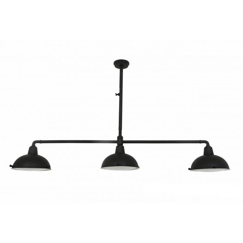 Industriële verlichting IndustriÃ«le hanglamp Billiards 3 Antiek Mat Zwart