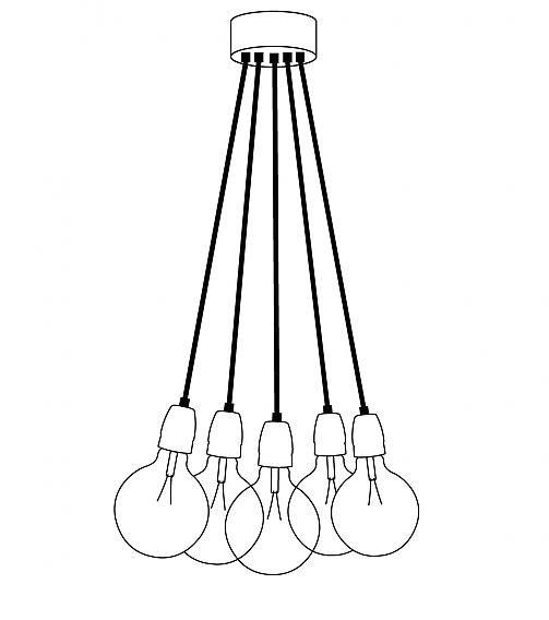 Lichtlab Hanglamp strijkijzersnoer bundel 3/5/7 draden lichts