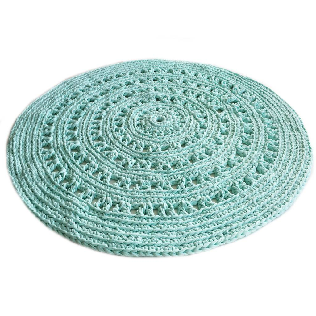 Naco Gehaakt vloerkleed crochet Mint