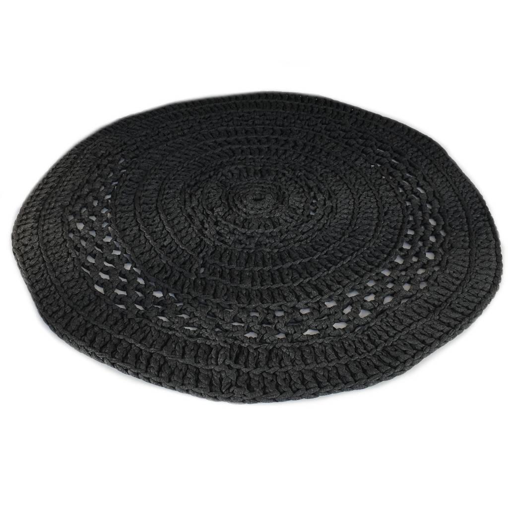 Naco Gehaakt vloerkleed crochet Antraciet