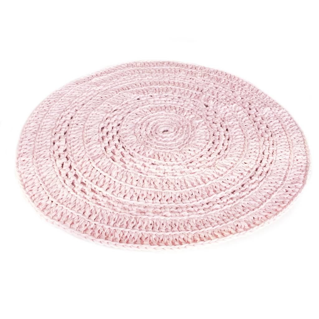 Naco Gehaakt vloerkleed crochet Roze