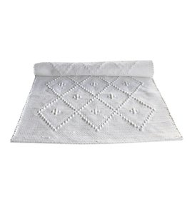 Naco Geweven vloerkleed Diamond Wit