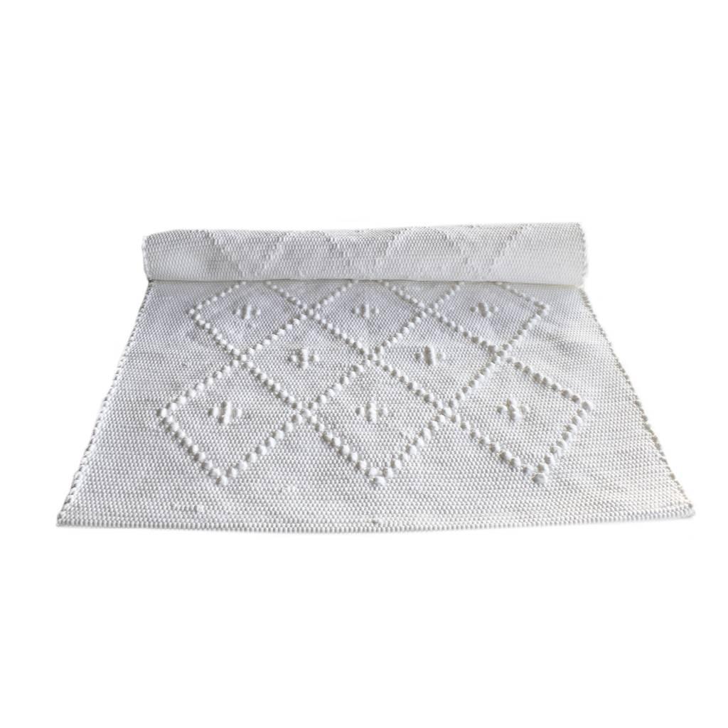 Naco Geweven vloerkleed Diamond Puxado Wit