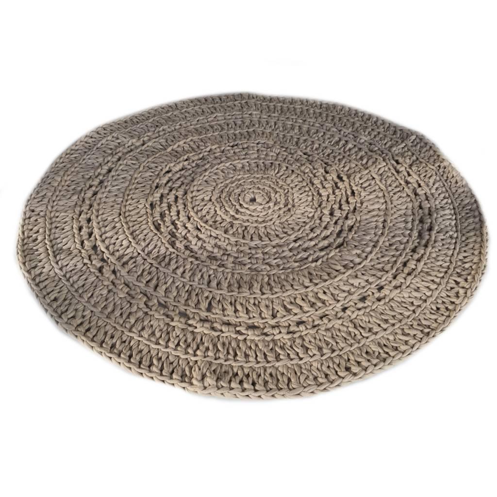 Naco Gehaakt vloerkleed crochet Taupe