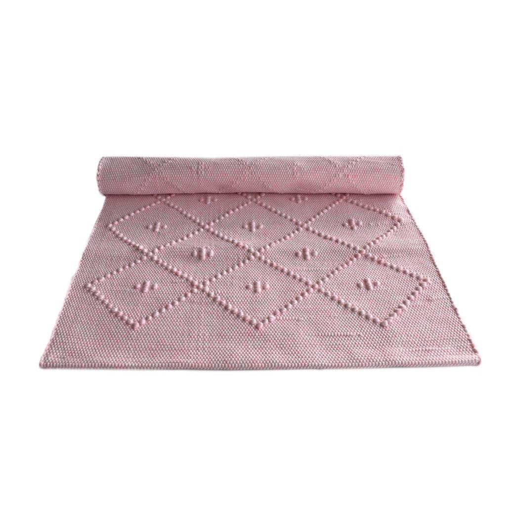 Naco Geweven vloerkleed Diamont Puxado Roze neon