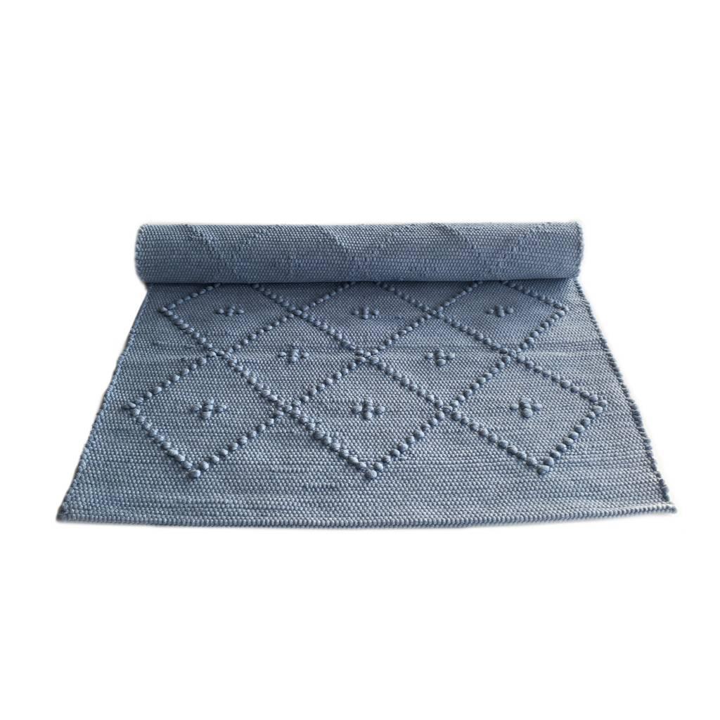 Naco Geweven vloerkleed Diamont Puxado Lavendel blauw