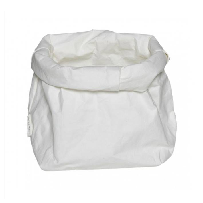 Puur Basic Home selection Opbergmand paperbag Wit - Diverse maten
