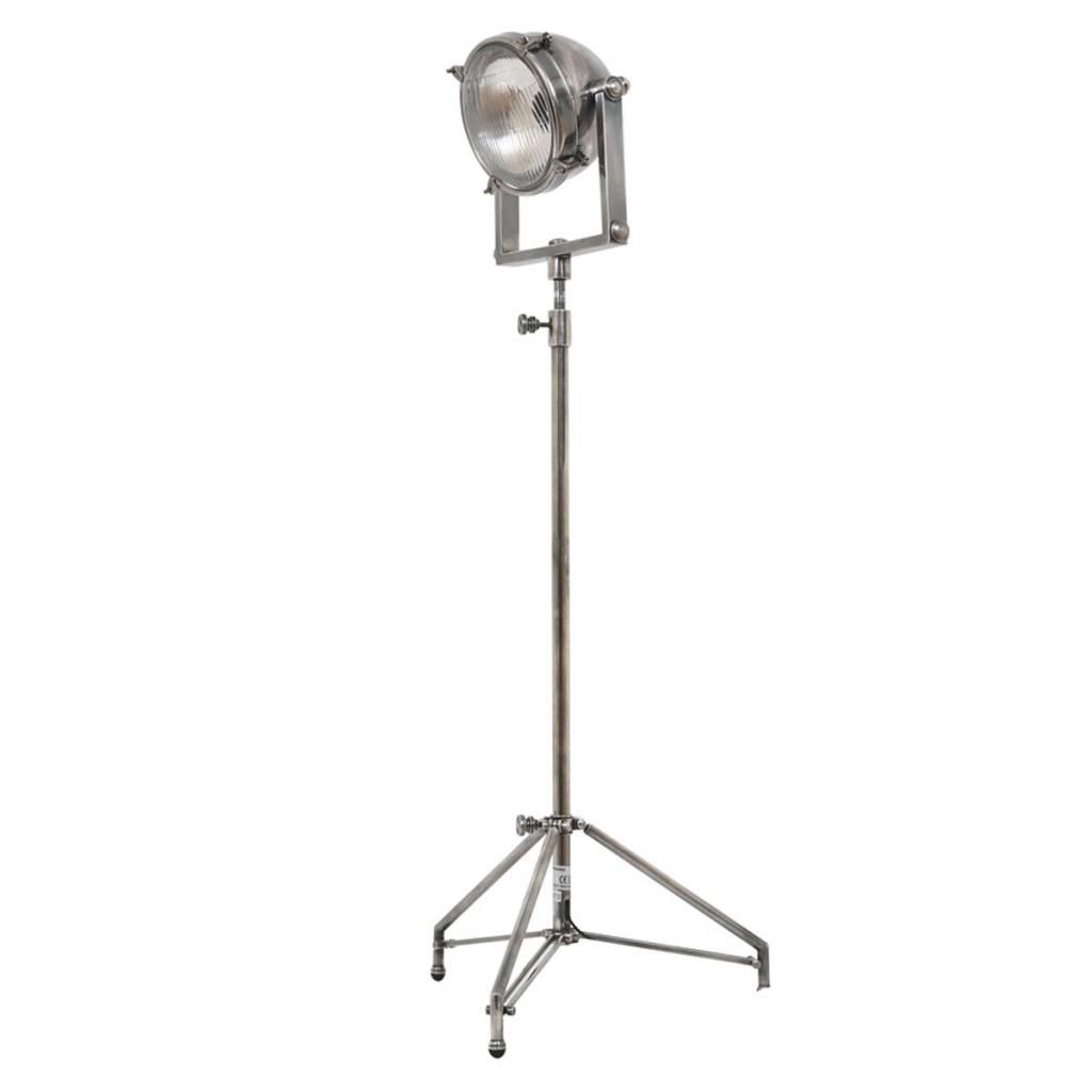Industriële verlichting IndustriÃ«le vloerlamp Imola Antiek Zilver