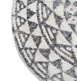 Hk Living Rond kleed / badmat patroon zwart / wit
