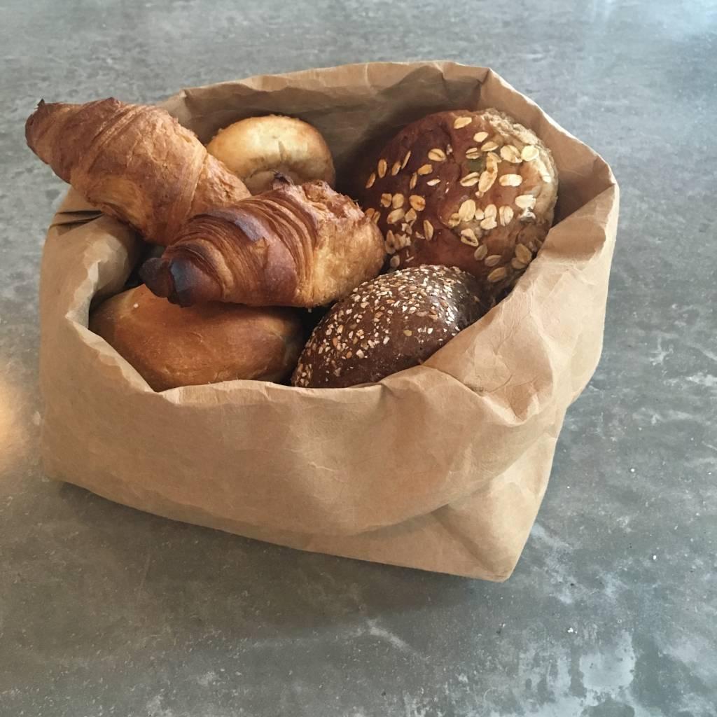 Puur Basic Home selection Opbergmand paperbag Grijs - Diverse maten