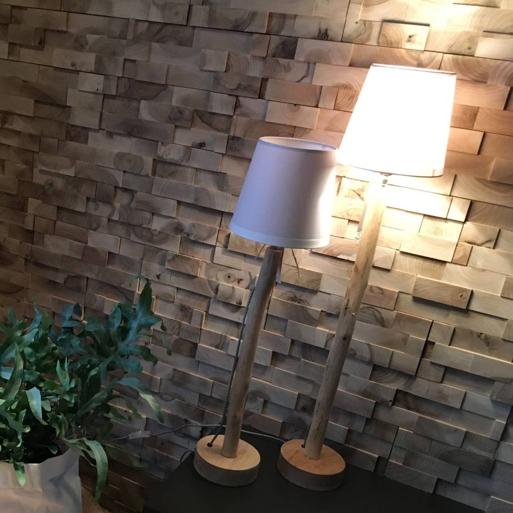 Puur Basic Home selection Houten boomstam lampje S
