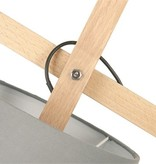 Present Time Vloerlamp grijs Leitmotiv - floor lamp sheer