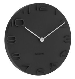 Present Time Karlsson Wall clock On The Edge - Zwart