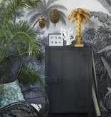 Hk Living HK living houten 1 deur kast - Houtskool zwart