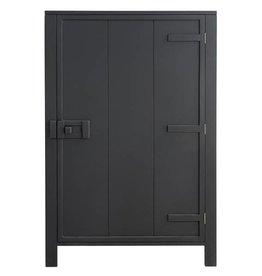 Hk Living HK living houten 1 deur kast - Zwart