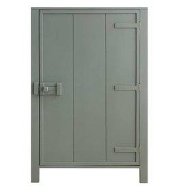 Hk Living HK living houten 1 deur kast - Leger groen