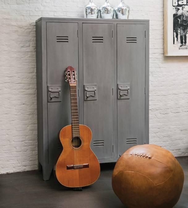 Hk Living HK living locker kast - Grijs