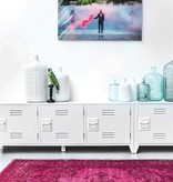 Hk Living HK living locker kast tv meubel / wandkast - Wit