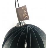 Bob design - Kerstbal papier - Zwart 6 stuks