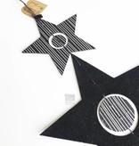 Bob design - Kerstster decoratie hanger - Zwart