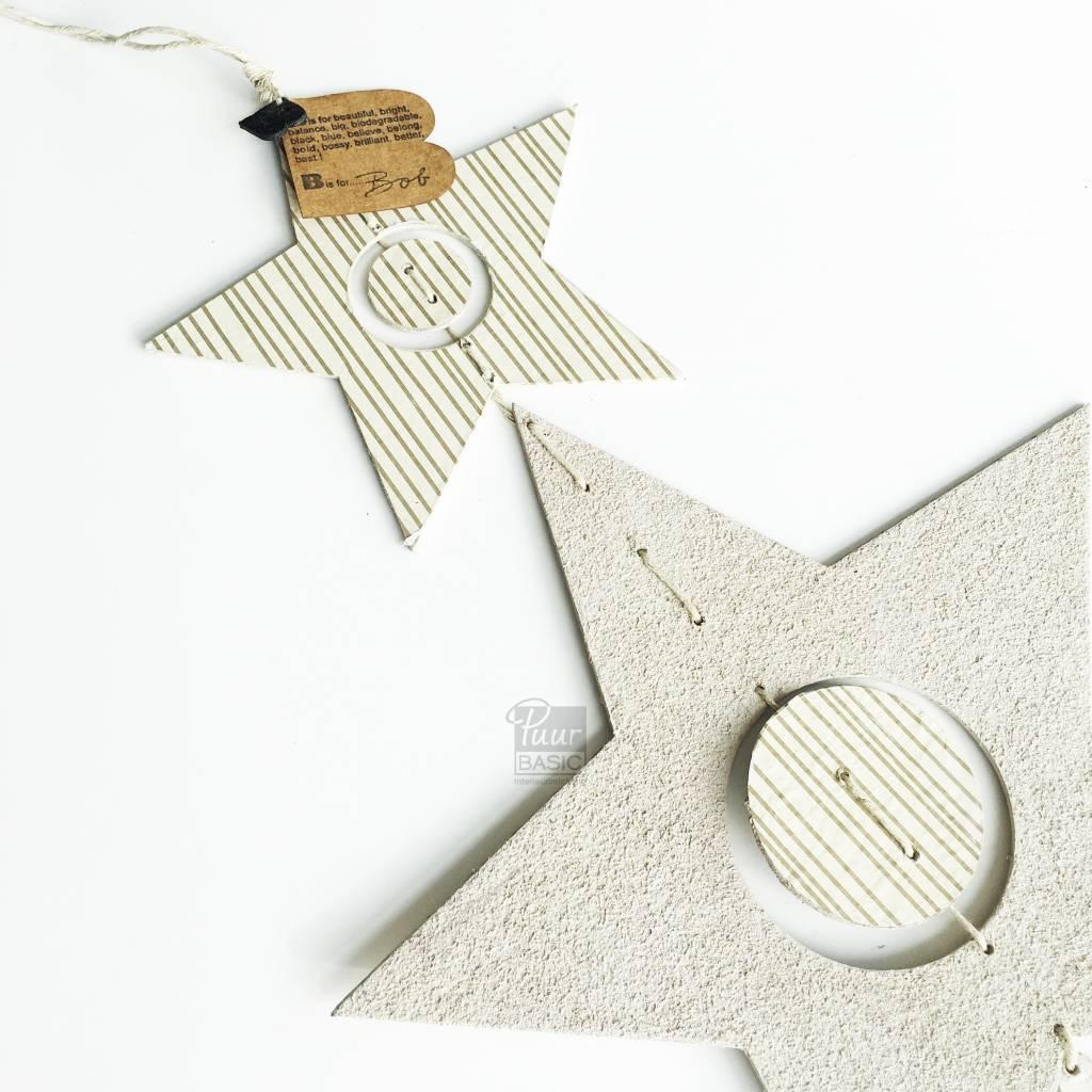 Bob design - Kerstster decoratie hanger - Créme