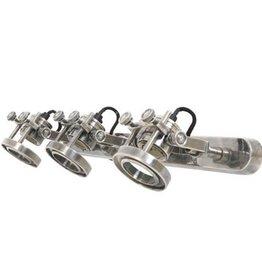 Industriële verlichting Wandlamp / Spotje Prescott Triple Antiek Zilver