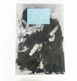 a Little Lovely Company Tassel slinger Versiering zwart / zilver