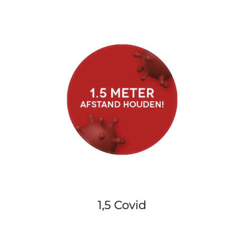 Corona-Covid Informatie Vloerstickers Rond 30 cm