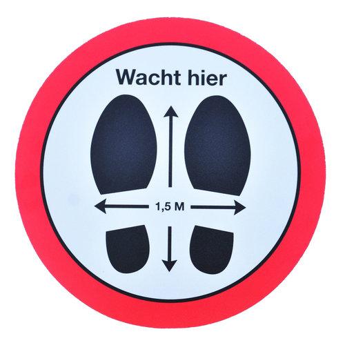 Vloerstickers buiten 50-60 en 80 cm