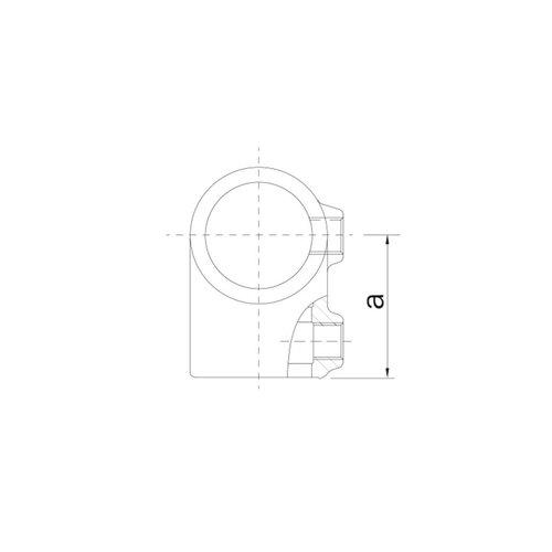 Buiskoppeling BUISKOPPELING 2 - Kort T-stuk