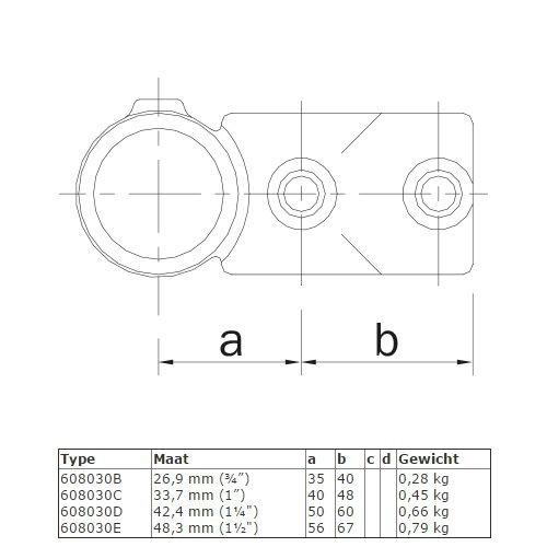 Buiskoppeling BUISKOPPELING 030 - Combi T-kruisstuk