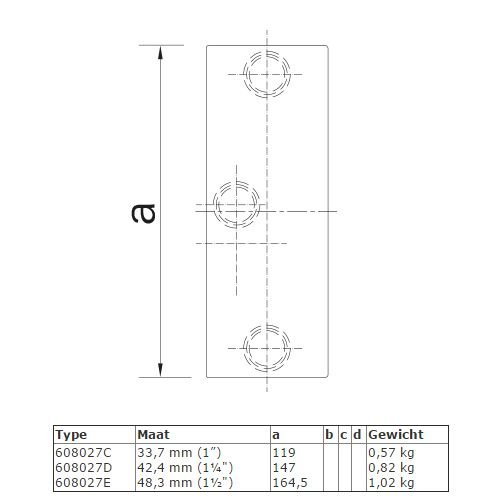 Buiskoppeling BUISKOPPELING 027 - Railbevestiging
