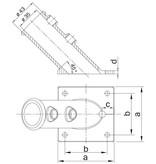 VLAGGESTOKHOUDER 33.7 mm