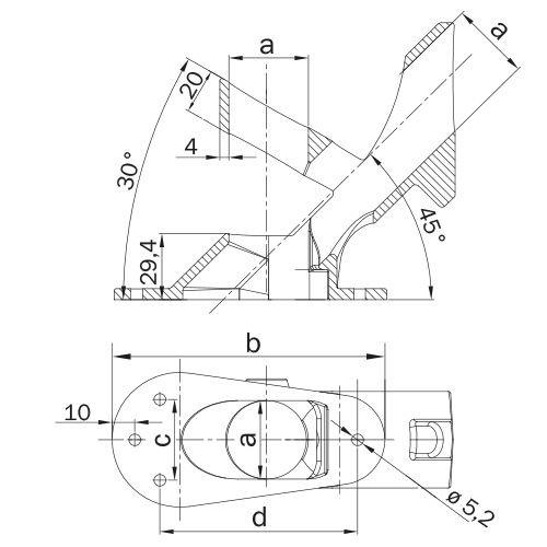 Buiskoppeling VLAGGESTOKHOUDER - 2 standen