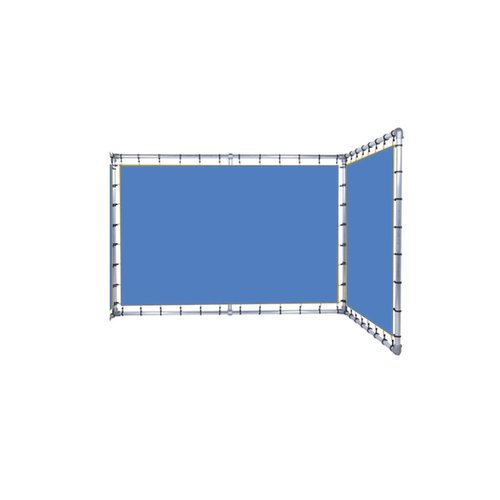 HUUR SPANDOEKFRAME L-vorm vaste hoek