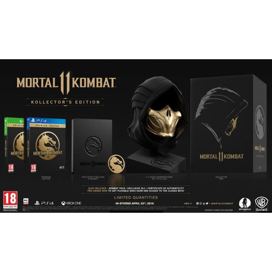Mortal Kombat 11 Kollector's Edition + DLC  - Playstation 4