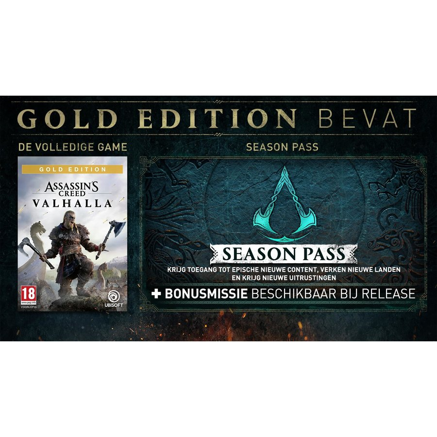 Assassin's Creed Valhalla Gold edition + Pre-order DLC - Playstation 4