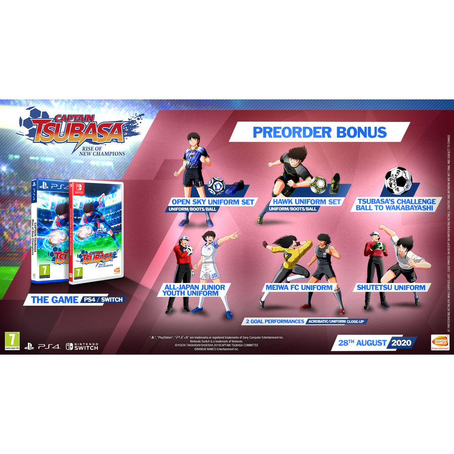 Captain Tsubasa: Rise of New Champions + Pre-order bonus - Playstation 4