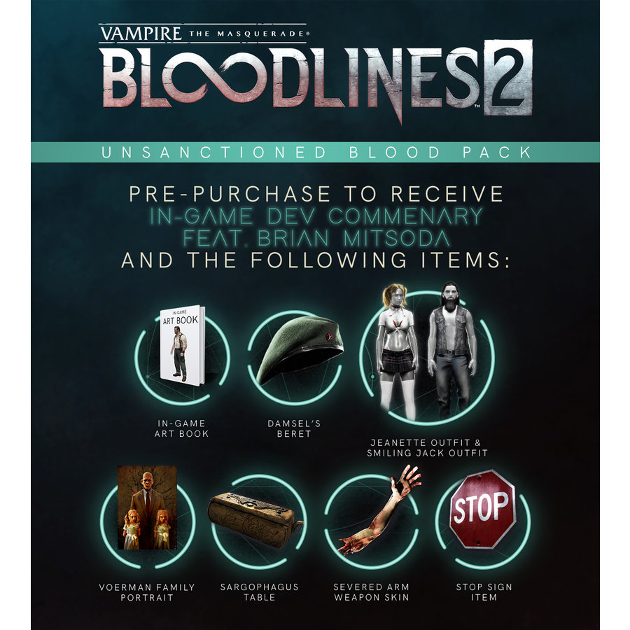 Vampire:The Masquerade Bloodlines 2 - Unsanctioned Edition (Steelbook) - Xbox One