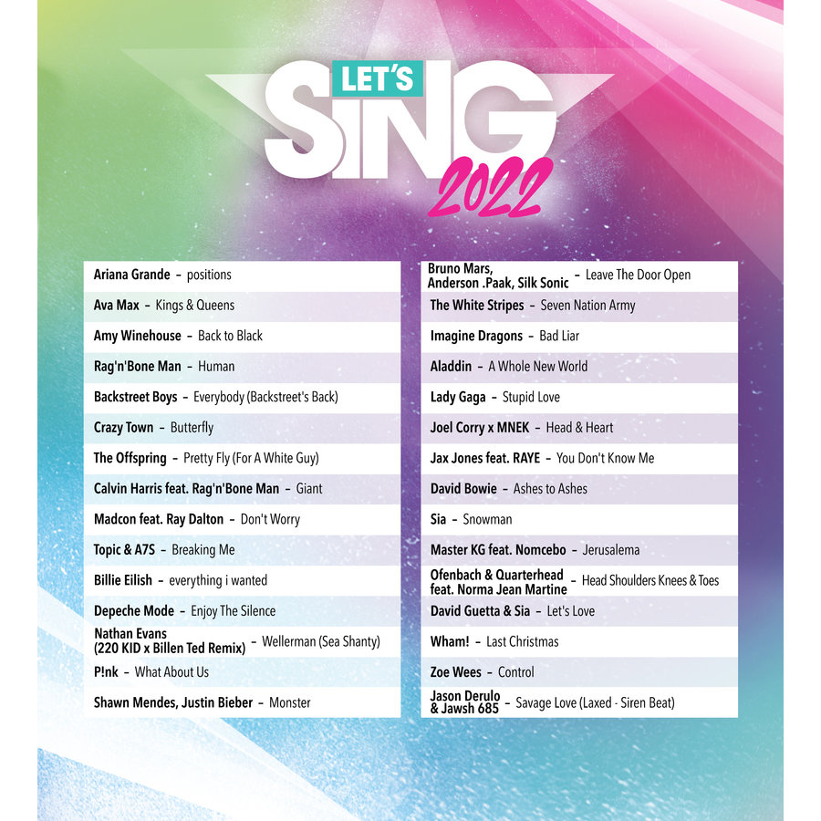 Let's Sing 2022 + 1 Microphone  - Playstation 4