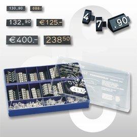 Prijsdoos Compact MAXI zwart/wit cijferhoogte 9,2 mm