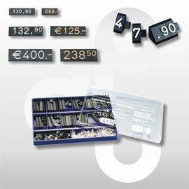Prijsdoos Compact MINI zwart/wit cijferhoogte 4 mm