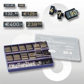 Prijsdoos Compact MIDI zwart/goud cijferhoogte 6,3 mm