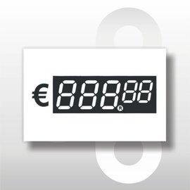 Digitale prijskaartjes tot € 1000 WIT 39 mm hoog 100 stuks