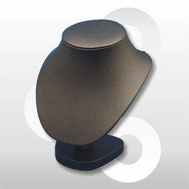 Collierhals H17.5 cm ZWART