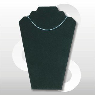 Collierpresentatie zwart fluweel H32 cm