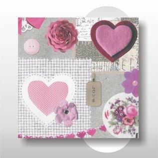 Geschenkpapier Valentine 30 cm 200 mtr