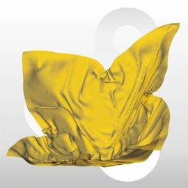 Zijdevloei vellen 17 gram formaat 50 x 75 cm GEEL