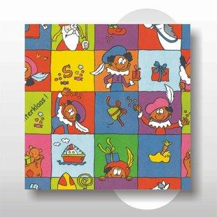 Sinterklaas papier 50 cm breed 250 mtr op rol